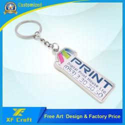 Профессиональные индивидуальные моды прямоугольник цинкового сплава цепочки ключей Смещение печати логотип Craft эпоксидной сувенирный брелок для продвижения по службе (KC11)