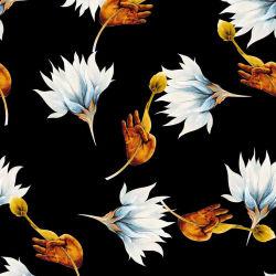 정밀한 꽃 Habotai 순수한 실크 직물을 인쇄하는 질에 의하여 길쌈되는 디지털