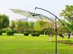 Grosser Falz-im Freien Stahlbananen-Sonnenschirmsun-Tisch-Kragbalken-Regenschirm