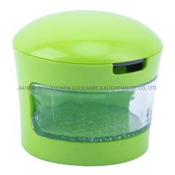 Küche-Hilfsmittel-manuelle Nahrungsmittelscherblock-Knoblauch-Zerkleinerungsmaschine-Plastikknoblauch-Zerhacker für Nahrung