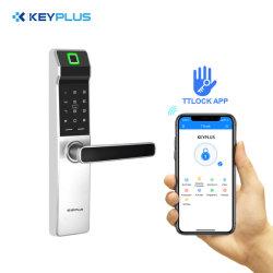 De Gama Alta Segurança WiFi Ttlock APP Porta de impressão digital inteligente de Controle Remoto