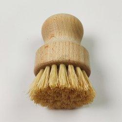 세공용 브러시 시살 팜 대나무 짧은 손잡이 둥근 접시 씻기 포트 브러시