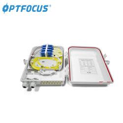4 8 16 24 Kanäle IP65 ABS SMC Fdb Lösungs-Wand-Montierungs-Teiler-im Freien Miniverzweigungs-Faser-Optikkabel-Verteilungs-Innenanschlußkasten des Haar-FTTH