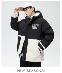 Wholesale Custom Homme capuche hiver veste duvet chaude manteau élevé Veste matelassée de qualité, style tendance et grande taille