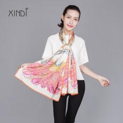 Pañuelo de seda pura 100 pañuelos de moda para dama Mantón de satén