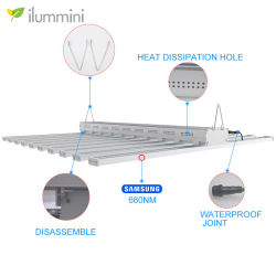 Ilummini LEDのプラントは高い発電LEDが商業医学の成長のために軽く育てるライトSamsungの完全なスペクトル800Wを育てる
