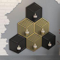 Metall Eisen Mode Personalisierte Wand-Hängenden Kerzenständer Ornamente Kerzenhalter Wand Dekoration Für Zuhause