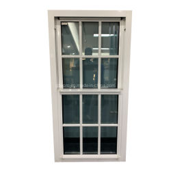 American UK style populaire normes rupture thermique en aluminium aluminium antivol haut bas Simple/Double ligne Hung fenêtre avec des filets
