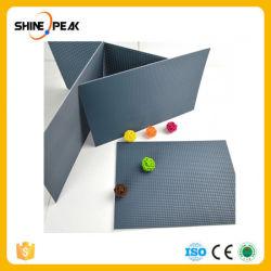 모형 기와 파랑 색깔을 타일을 붙인 모형 물자 건물에 DIY 모래 테이블 건물