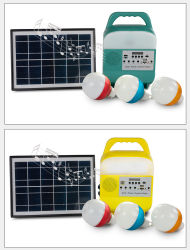 Rádio portátil com função de alto-falante embutido Lanterna Tocha e painel solar FM