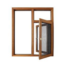 Großes doppeltes Scheiben-Flügelfenster Windows für Verkauf 6 x flügelfenster-Windows-Rahmen des schwarzes Metall6 Aluminium