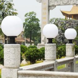 태양광 동력 램프 300mm 직경(스테인리스 스틸 포스트 필러 포함 정원/야드/공원 조명