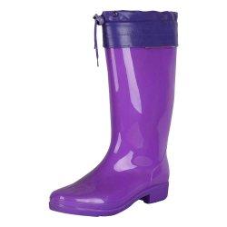 Forro de peles quentes de inverno com a convergência de aço botas de borracha chuva Calçados Forro Gumboots em outro país