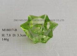 De groene Duidelijke thee-Lichte Houder van de Kaars Hexagram met het Schilderen Kleur