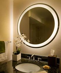 حمام جينجو مستطيل مستدير 5 مم من قبل مع مصباح LED معلق على الجدار مرآة مع إضاءة لا نهاية