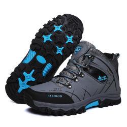 맞춤형 실외 등산 가죽 스포츠 남성용 하이킹 신발