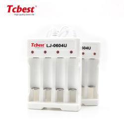 OEM NiCd NiMH AA de Lítio AAA 18650 4 Slots carregador da bateria portátil inteligente para bateria recarregável de iões de lítio