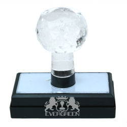 Crystal Handle Flash Stamps 25 * 61mm