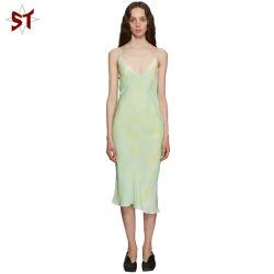 Novo Estilo Casual Chiffon Cintura média parte venda quente vestido Longo