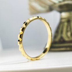 مجوهرات دقيقة ذهبية 14K خاتم الذهب