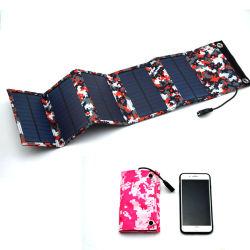 10W Mono pliable Panneau solaire pliable Chargeur de batterie de voiture de l'alimentation de puissance mobile