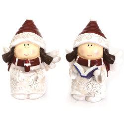 Quanzhou 공장 직매 Polyresin 크리스마스 눈 소녀 작은 조상 홈 또는 정원 훈장