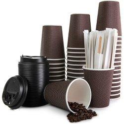 Einweg-Papier-Cup-Druck Take-away trinken Kaffee-Papier-Cup mit Leckagen Vermeiden Deckel