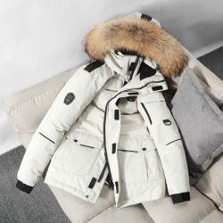 Новые поступления зимний Мужчины Женщины лучше всего черный/белый/красный индивидуальные тонкий слой толщиной из гусиного пуха вниз водонепроницаемая куртка с Windbreak Puffer вниз
