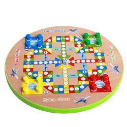 Горячая продажа деревянная игрушка настольной игры по вопросам образования Совета игры в шахматы в самолете китайские шашки игрушки для детей и взрослых