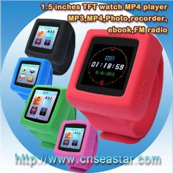 TFカード、色、可変性バンド(S-MP4W666)を持つ腕時計MP4プレーヤー