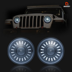 7 インチ LED ヘッドライト(ジープラングラーディフェンダートラックハーレー用 ECE 認定ハイロービーム DRL 昼間走行ランプ