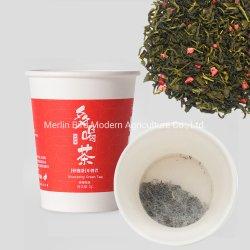 Papel Natural taza de té instantáneo té de frutas de color verde de la fresa