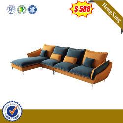 Modern Base metálica Leather Sala Quarto Tecido de mobiliário de madeira de Lazer Sofá da Estrutura