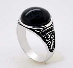新式の工場卸売925のCZの人のリングが付いている銀製の樹脂のリングの宝石類
