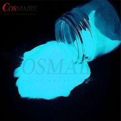 Os pós de pigmento Cosmaire fosforescentes, brilha no escuro em pó