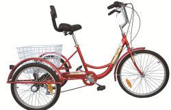 24 Polegadas Shiamno Adultos Velocidade 7 Triciclo três bicicletas de Roda