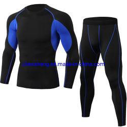 ملابس اللياقة البدنية الخفيفة الرجالية الجافة السريعة ملابس السراويل الطويلة بدلة اللياقة البدنية الرياضية