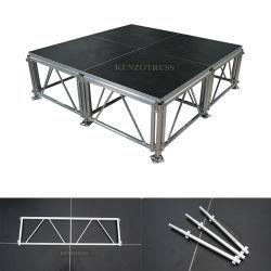 Plate-forme en bois d'aluminium étape Étape portable mobile de plein air pour le concert