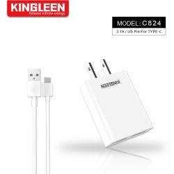 USB 5V/3.1A Typ-c Wand-Aufladeeinheit stellte für Samsung Huawei Xiaomi ein