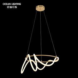 Círculos de silicona y acrílicos Decoración moderna de la luz de techo Iluminación lámpara colgante lámpara de araña