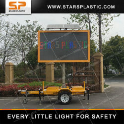 Portable signe à message variable pour la sécurité du trafic