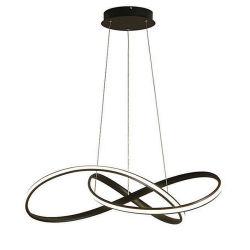 El mejor venta de sala de estar Dormitorio LED Simple Comedor Barra de aluminio blanco y negro Comedor lámpara de araña de luces Three-Tone