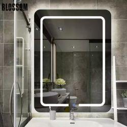 حمام الفندق مرآة مستدير مزخرف مرآة LED مرآة ماكياج مرآة مع مصابيح LED