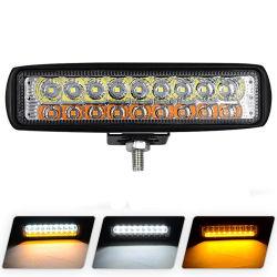 Weiße/Gelblicht-Stab 6 Zoll-Flut-Nebel-Straßen-Boot, das Jeep-Lampe der LED-Arbeits-SUV fährt