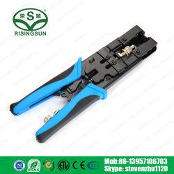 3 en 1 Conector herramienta profesional RG59/RG58/RG6 Herramienta de compresión ajustable