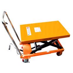 150kg ポータブル油圧マニュアルシザーリフトプラットフォームテーブルカー