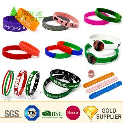 Дешевые оптовые Custom печати красочных Fashion Sport Smart водонепроницаемой силиконовой резины рельефным изображением RFID браслет на запястье силиконовый зона для подарок для продвижения