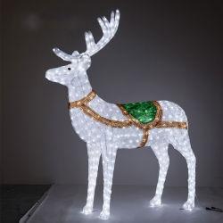 Lampe LED forme animale paysage Elk décoratif de forme de simulation de feu en plastique