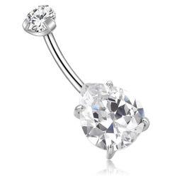 G23 Titanium anneau nombril Body Piercing bijoux cristaux Waterdrop Design 2.