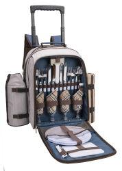 Persona 4 Carro de la bolsa de picnic con compartimento enfriador de vino/soporte/Llevar Handl